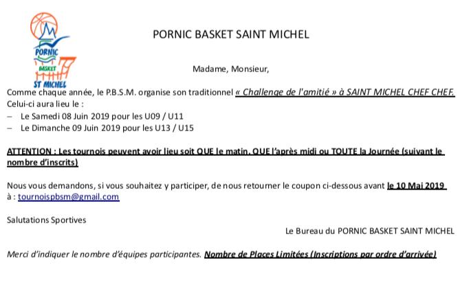 Affiche tournoi pornic saint michel 8 9 juin 2019