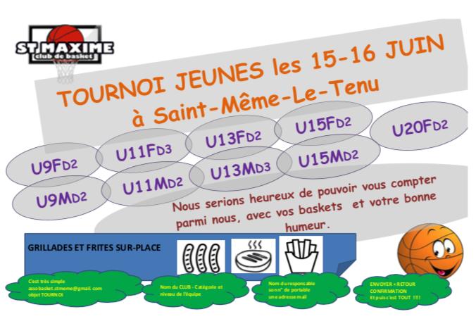 Afiiche tournoi saint maxime 15 16 juin 2019
