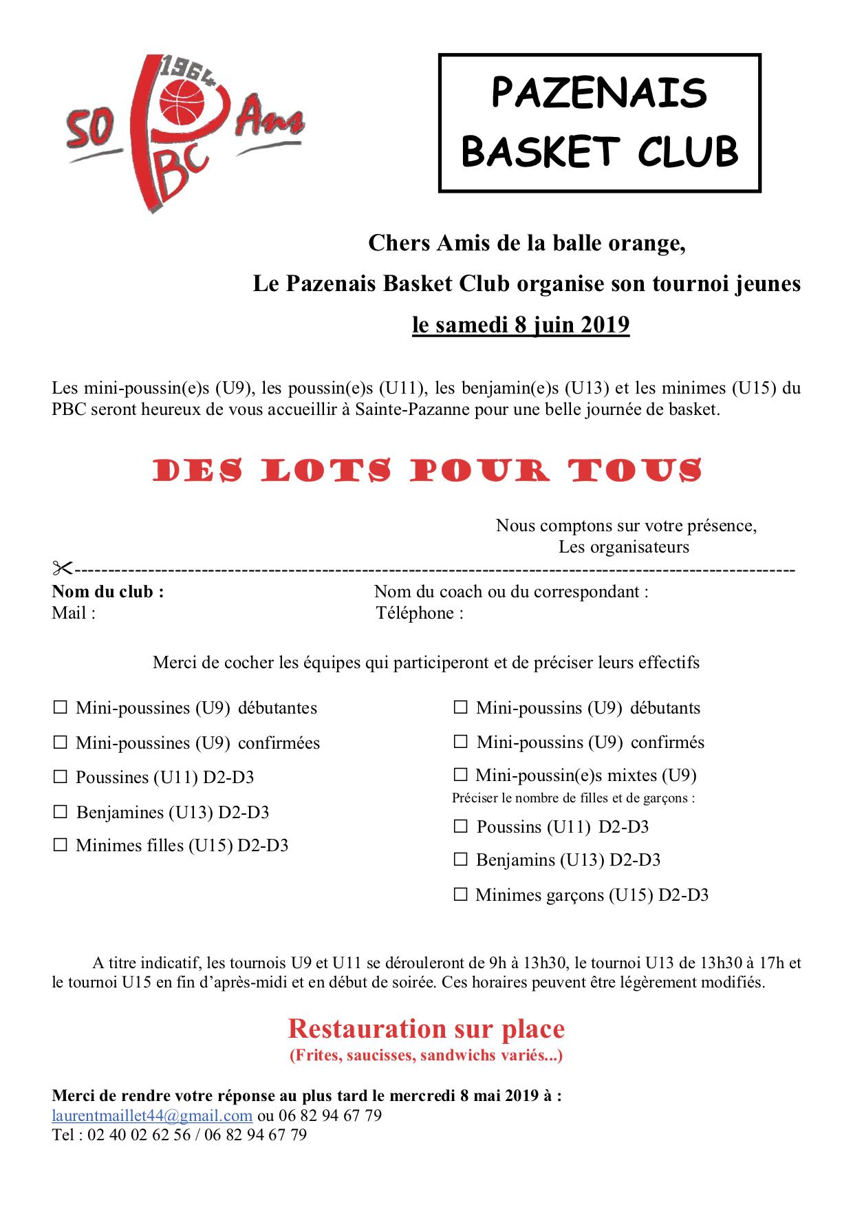 Invitation tournoi sainte pazanne 2019